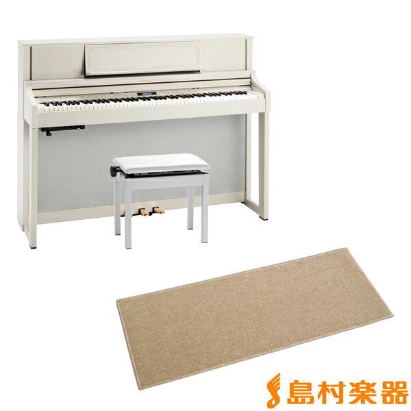 RolandLX-7GP-MWミルキーウッドカーペット(小)セット電子ピアノ88鍵盤ローランドLX7