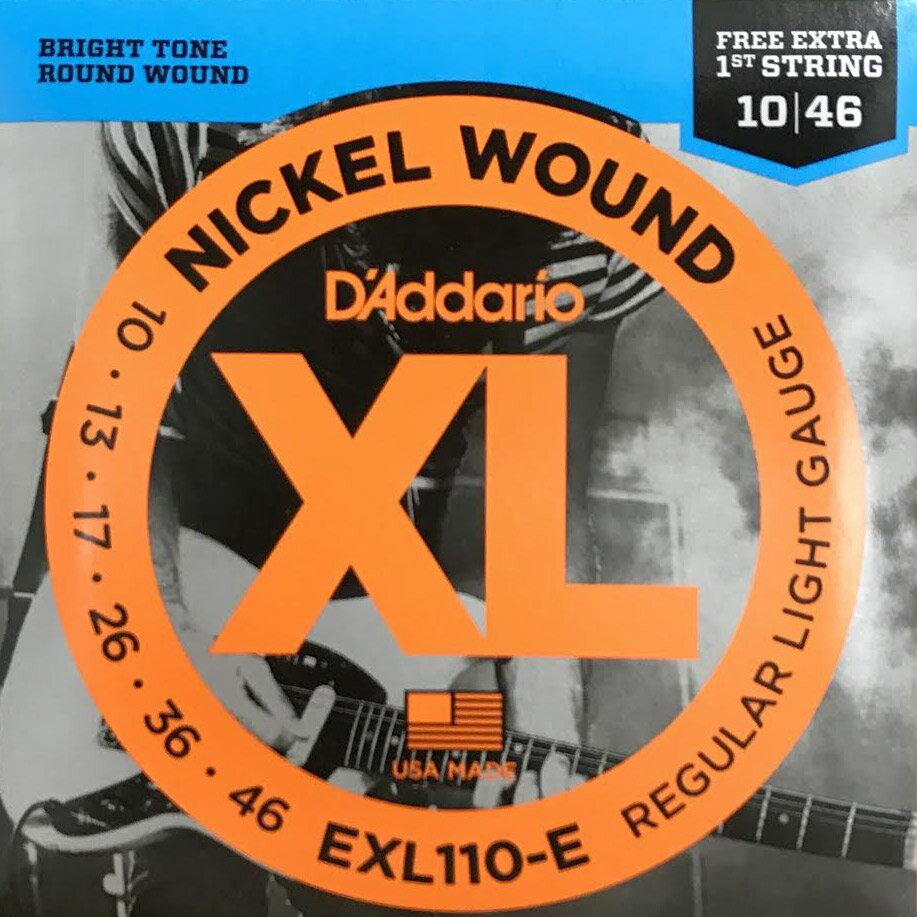 D'AddarioEXL110-Eエレキギター弦RegularLight1弦2本入りボーナスパックダ