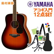 YAMAHA FG820 BS アコースティックギター初心者12点セット アコースティックギター 【ヤマハ】【オンラインストア限定】