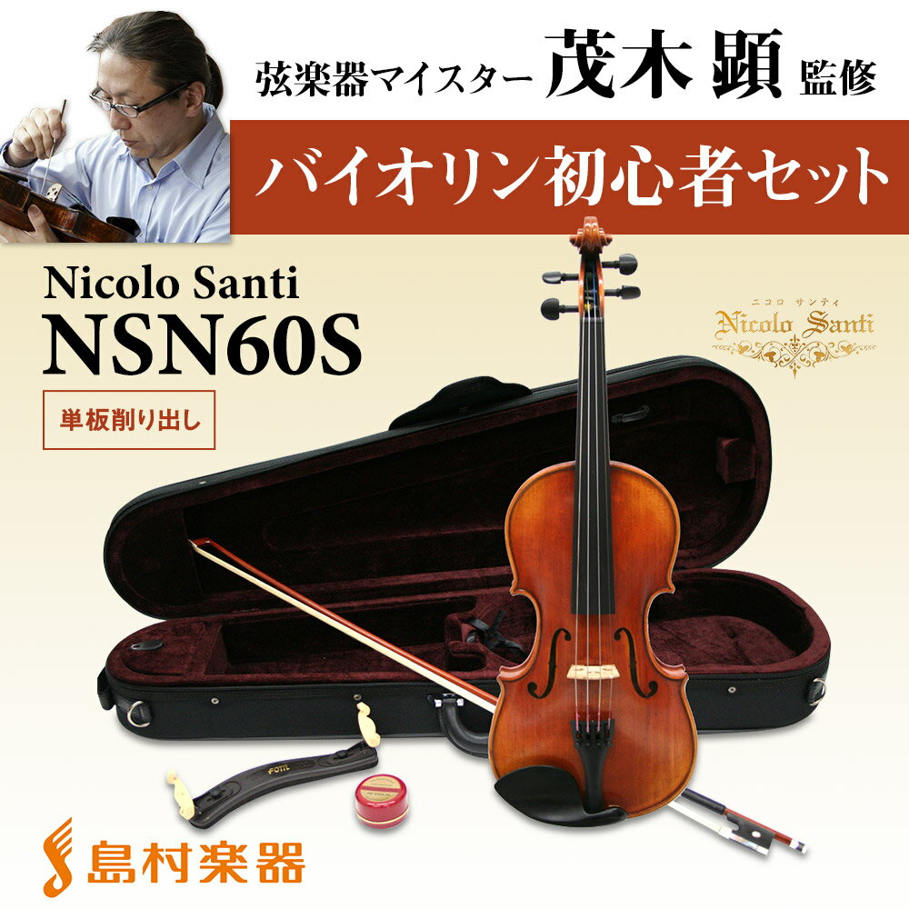 NicoloSantiNSN60Sバイオリン初心者セットマイスター茂木監修ニコロサンティ島村楽器限定