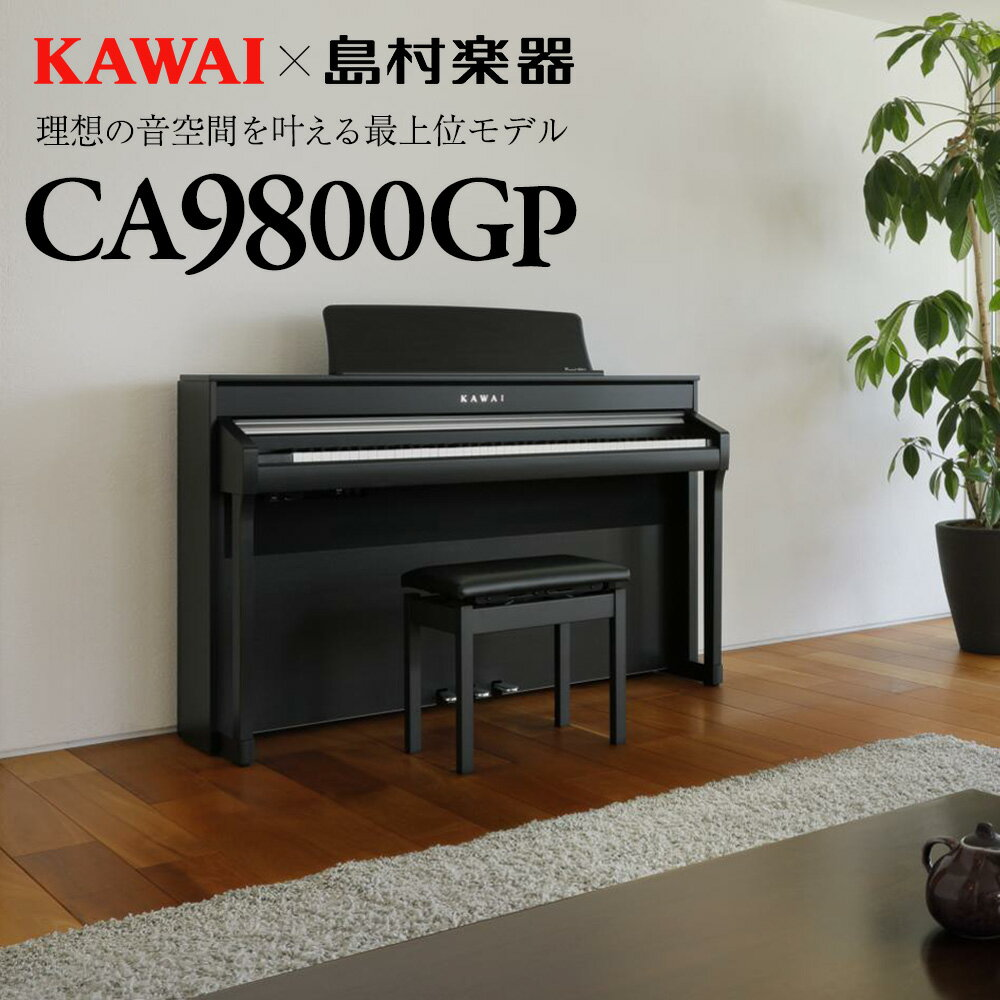 KAWAICA9800GP電子ピアノ88鍵盤カワイ配送設置無料・代引き払い不可島村楽器限定別売り延長