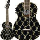 Fender Billie Eilish Uke Walnut Fingerboard Black コンサートウクレレ ピックアップ付き 【ビリーアイリッシュ シグネチャーモデル】 【フェンダー】