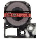 【キングジム】 PROテープ強粘着 SC12RW 赤に黒文字 12mm
