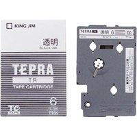 【キングジム】 テプラTRテープ TT6K 透明に黒文字 6mm