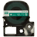 【キングジム】 テプラPROテープ SD12G 緑に白文字 12mm