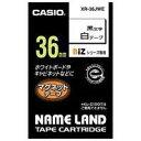 【カシオ計算機】 マグネットテープ XR−36JWE 白に黒文字36mm★お得な10個パック