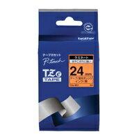 【ブラザー】 文字テープ TZe-B51蛍光橙に黒文字 24mm★お得な10個パック 【ブラザー】 文字テープ TZe-B51蛍光橙に黒文字 24mmお得な10個パックセット