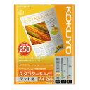【コクヨ】 インクジェットプリンタ用紙 スタンダード スーパーファイングレード A4 250枚KJ-M17A4-250 入数:1