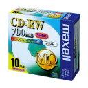 【日立マクセル】 CD-RW 700MB 1ー4倍速 1枚×10(5ミリ) レーベル/ホワイトEMC-CDRW80PW-S1P10S 入数:1