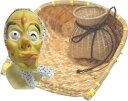 どじょうすくいセット 3点セットB2マスク ザルB・ビク・ひょっとこマスク【踊り用小道具】箕 どじょうすくい ビク中 豆絞り 安来節
