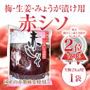 梅・生姜・みょうが漬け用【赤シソ】生梅2kg用1袋