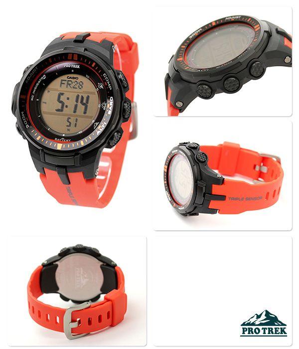 カシオ プロトレック CASIO PRO TREK 電波 ソーラー 電波時計 腕時計 メンズ デジタル タフソーラー  PRW-3000-4DR 【送料・き手数料無料】