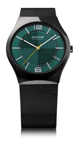 【送料・き手数料無料】腕時計 BERING  ベーリング ポーラーナイトクロス新作モデルウルトラスリム ハイテクセラミック文字盤グリーン 32039-223-1【送料・き手数料無料】