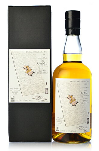 Hanyu (Ichiro's Malt) s malt the GAME 5th 13 years (Hanyu 13yo) including branch inventory [2000] ミズナラウッド finish #1302 * thanks, everything was sold out.