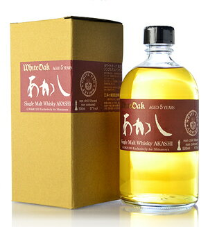 Single malt testimony five years (Akashi 5yo) single cask 1130 Bourbon Cack for SHINANOYA * this is scheduled to be shipped 11/8.