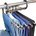 5連ズボンハンガー5 WAY Trousers Hanger ズボンが5本掛けられるとても便利なハンガー!