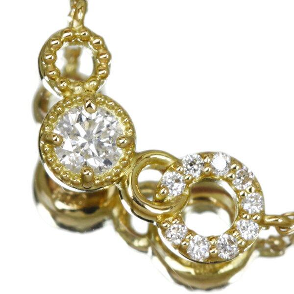 K18 ダイヤモンド ネックレス 0.14ct ダイヤ【送料無料】