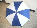 【新品】【即納】【】晴雨兼用ゴルフ用傘手開き式アンブレラ青/白 65cm