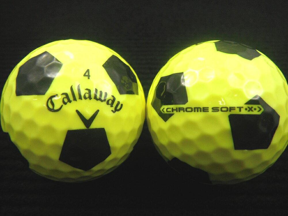 Callaway キャロウェイCHROME SOFT・X・TRUVIS(トゥルービス) 17年モデルイエロー×ブラック【あす楽対応_近畿】【中古】