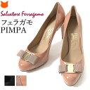フェラガモ パンプス レディース サルヴァトーレ フェラガモ PIMPA Salvatore Ferragamo 正規品 靴 イタリア製 ブランド エナメルレザー 本革 ヴァラ リボン 小さい サイズ 22cm 大きい サイズ 25cm 26cm