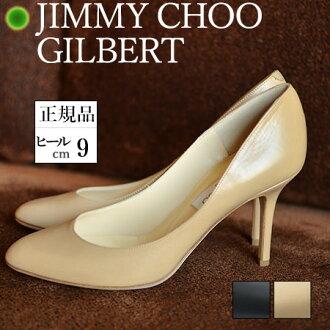 JIMMY CHOO KID85 Choo247 米色 高跟鞋 圓頭皮革 黑色 米色 高跟真皮鞋 正規品