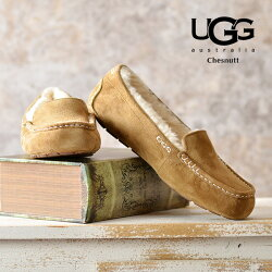 UGGスリッポンアンスレーレディースアグモカシン|正規品UGGaustraliaアグムートンUGGANSLEYアンスリーペタンコ暖かい防寒温かい履きやすい疲れない靴ムートンシューズボア黒ブラックチョコブラウンチェスナット送料無料アグオーストラリア
