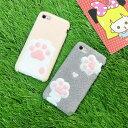 【送料無料】 iPhone7 スマホケース iPhone7 Plus カバー かわいい もこもこ ふわふわ 保護 肉球 にくきゅう 猫 ソフトケース 猫の足