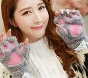 【送料無料】1000円 猫 コスプレ もこもこ 手袋 衣装 ネコ 雑貨 レディース スマートフォン対応 防寒