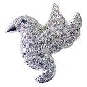 メンズ ラペルピン ダイヤモンド ブルーダイヤモンド 鳥 バード 男性用ブローチ タイニーピン ピン...