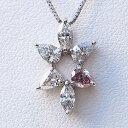 ダイヤモンド ペンダントネックレス K18WG ホワイトゴールド ベネチアンチェーン付 送料無料