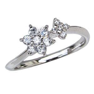 ダイヤモンドリング ダイヤモンド 指輪 ダイヤ 0.27ct ホワイトゴールド K18WG【RCP】 ラグジュアリーな輝き 女性の憧れダイヤモンドリング