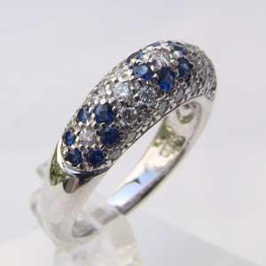 指輪サファイア 9月誕生石 ダイヤモンド サファイヤ リング PT900 プラチナ900 指輪【RCP】 指輪サファイア9月誕生石ダイヤモンドサファイヤ リングPT900