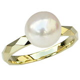 パールリング 真珠指輪 K18 ゴールド あこや本真珠 8ミリ カットリング【楽ギフ包装】【RCP】