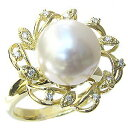 真珠 パール リング 南洋白蝶真珠 ピンクホワイト系 12mm ゴールド K18 ゴールド 18金 指輪【RCP】