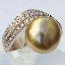 ショッピング指輪 真珠 パール リング 南洋白蝶真珠 12.5mm 18金 K18PG ピンクゴールド リング 普段使い
