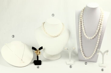 ご入学 ご卒業 本真珠 豪華6点セット(本真珠ネックレス10-10.5mm、大粒一粒ペンダント10-10.5mm、イヤリング(またはピアス)ロングネックレス、ブローチ)高級ジュエリーケース付 (福袋 ピアス)