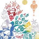 【注染手ぬぐい クリスマス】 Christmas wreath (クリスマス リース) kenema 【追跡可能メール便送料無料!】【 日本製 Xmas サンタ ポインセチア 季節行事 手拭い タペストリー インテリア 】