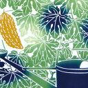 ショッピングカーテン 注染手拭い 『ゴーヤーカーテン』 kenema 【追跡可能メール便送料無料!】【 日本製 手染め 手拭い てぬぐい 手ぬぐい タペストリー 壁飾り インテリア にがうり 苦瓜 夏野菜 沖縄 綿100% 夏 おしゃれ 】
