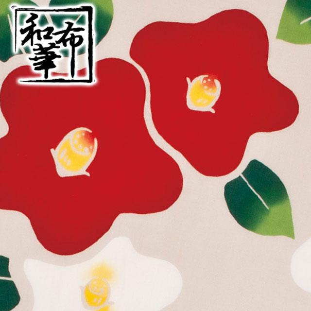 【注染手ぬぐい 冬模様】和布華-わふか-『つばき』【ゆうパケット送料無料!※宅配便を選択時は送料がかかります。(ご注文後にこちらで追加します。)
