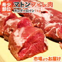 無添加 マトン ヒレ肉 1kg 前後 【 送料無料 】 テン...