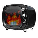 レトロなブラウン管 テレビ型 インフォメーション機能付 Bluetoothスピーカー Divoom 「DIV-TIVOO」DIV-TIVOO-WH DIV-TIVOO-BK