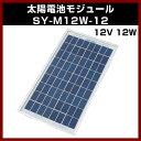 ソーラーパネル 【M-08233】 12V 12W SY-M12W-12 太陽電池モジュール 太陽 発電 自作 キット