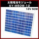 ソーラーパネル 【M-07395】 12V (最大17.4V) 50W SY-M50W-12 太陽電池モジュール 12V/50W 太陽 発電 自作 キット