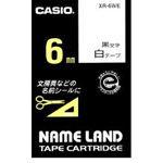 (KC)【库存蚂蚁】卡西欧 名字Land胶带XR-6WE[(KC) 【在庫あり】カシオ ネームランドテープ XR-6WE]