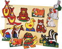 【エドインター】木製パズル(アニマルパズル)/出産祝い/プレゼント/誕生日/男の子/女の子/知育玩具/おもちゃ
