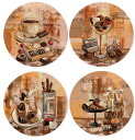 【アウトレット】プレート4枚セット直径20(チョコレート)サンタバーバラわけあり/セール/B品