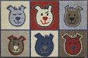 【wash+dry】(屋外・屋内兼用)玄関マット(WOW WOW)ドアマット/フロアーマット/エントランス/犬洗える/インテリア/新築祝い/かわいい//薄い/ラバー