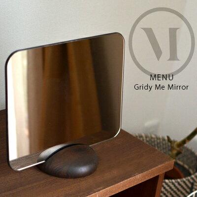 Gridy Me Mirror グライディミーミラーmenu メニュー Gridy グライディ卓上鏡/ミラー/両面/北欧【コンビニ受取対応商品】【RCP】