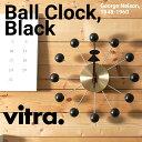 ●●【2月19日7時までポイント10倍】【Vitra】Ball Clock 【Black x Brass】高品質クオーツ時計式ムーブメントボールクロック/ブラック/ブラス/ヴィトラ/掛け時計/クロック/木製/ジョージ・ネルソン/George Nelson【RCP】
