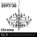 〇〇【代引き不可】FLOS MOD.2097 30lights Chrome フロス クロームスチール シャンデリア 30灯 Gino Sarfattiジノ サルファッティ/ペンダントライト/スティール/【RCP】